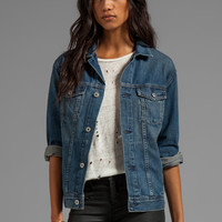 AG Adriano Goldschmied The Nancy Drop Shoulder Denim Jacket in Oblivion from REVOLVEclothing.com