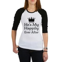 Couples Happily Ever After Baseball Jersey> He's My Happily Ever After> Couple Shirts and Relationship Gifts