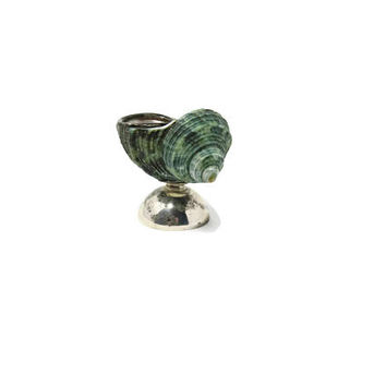 Vintage Sterling Silver Sea Shell Salt Open Cellar - One of a Kind Housewarming Gift Ideas - Fine Dining Table Decor