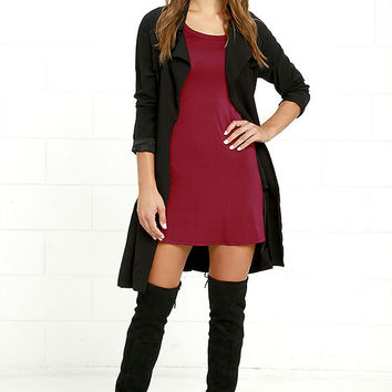 Sweet-Natured Berry Red Dress
