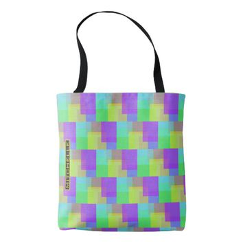 Personalized Rainbow TAS Tote Bag