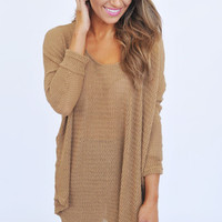 Oversize Knit Sweater- Mocha