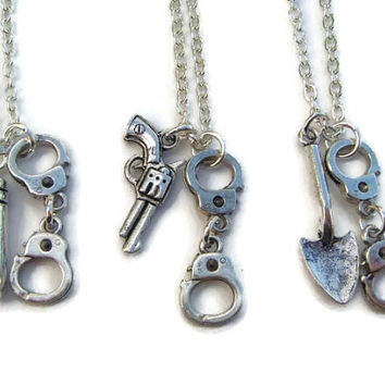 3 Partners In Crime Necklaces Best Friends Set Friendship Neck