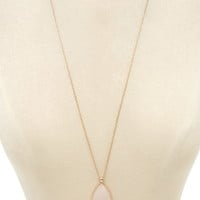 Faux Stone Longline Necklace | Forever 21 - 1000176241