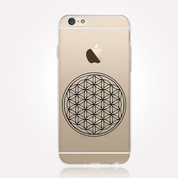 Transparent Flower of Life iPhone Case - Transparent Case - Clear Case - Transparent iPhone 6 - Transparent iPhone 5 - Transparent iPhone 4