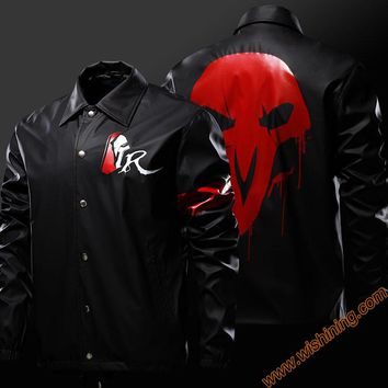 Blizzard Game OW Reaper Genji Cosplay Jacket Skulls Evil Ghost Mens clothes Cosplay Costume