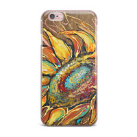"Brienne Jepkema ""Sunflower"" Yellow Flower iPhone Case"