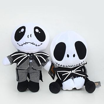 2pcs/lot 20-25cm The Nightmare Before Christmas Jack Skellington Plush Toys.Doll Soft Stuffed Toys for Kids Children Xmas Gifts