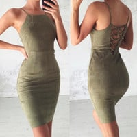 Sexy Backless Lace Up Bodycon Dress 2017 Spring Summer Off Shoulder Women Dress Elegant Club Bandage Dress Vestidos