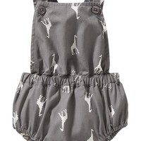 Old Navy Giraffe Print Bubble Rompers For Baby