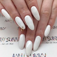 24Pcs Long Sharp Head Fake Nails ins Hot Nails Solid Color False Nails Acrylic Impress Nails Nail Art Supply with Glue Sticker