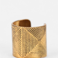 Etched Cuff Earring
