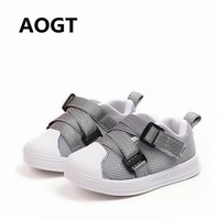 AOGT 2018 Autumn Children's Shoes Boys Girls Sport shoes Fashion Casual Breathable Kids Sneakers Anti-slip Infant Toddler Shoes