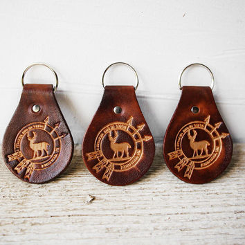 Personalized Logo Leather Keychains