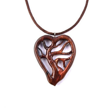 Wooden Pendant, Tree of Life Pendant, Wooden Tree of Life Pendant, Tree of Life Necklace, Hand Carved Pendant, Wood Jewelry, Valentine's Day