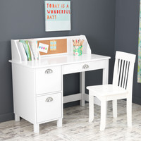 KidKraft Study Desk with Drawers - White - 26704