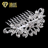 Fashion Shiny Top Quality Wedding Bridals Crystal Flower Floral Hair Combs hair clips for women Hair Accessories Jewelry SF741