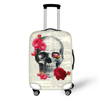 Durable Travel Luggage Protective Covers For Trolley Case Elastic Skull Punk Style Suitcase Covers for 18-28 Inch