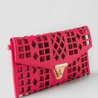 Vanessa Perforated Clutch