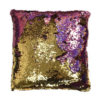 Peach Couture Reversible Sequin Color-changing Accent Throw Pillow | Overstock.com Shopping - The Best Deals on Throw Pillows