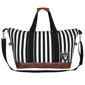 Women's Oakland Raiders Striped Weeknder Bag
