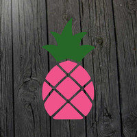 Pink pineapple decal Pineapple sticker Pineapple car decal Pineapple laptop decal Pineapple wall decal Pineapple nursery Pineapple print