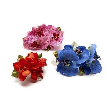 Speckled Orchid, & Pastel Orchid Napkin Rings S/4