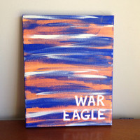 Canvas Quote Painting war eagle 8x10 by heathersm87 on Etsy