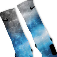Blue Storm Customized Nike Elite Socks