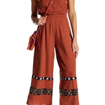 endless rose | Embroidered Palazzo Pant Jumpsuit | Nordstrom Rack