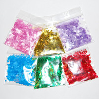 Solvent Resistant Glitter Stars Sampler Set for Glitter Nail Art and Glitter Crafts