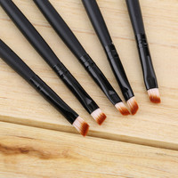 High Quality 5pcs/set Professional Synthetic Fiber Eyebrow Eye Shadow Brush Makeup Tool