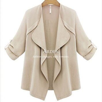 Plus Size Women's Fashion Slim Jacket [6439083268]