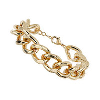 Gold Curb Chain Bracelet - Gold