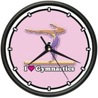 GYMNASTICS Wall Clock gymnast leotard tights gift