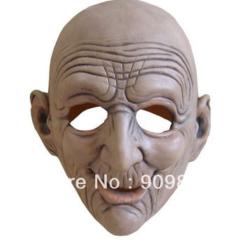 Funny Smiling Old Man Latex Mask Realistic Human Same Masks Halloween House Party Cosplay Props Old People Children Gifts