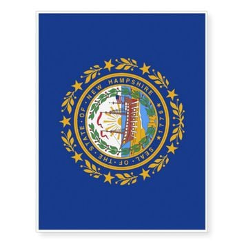 Patriotic temporary tattoos Flag of New Hampshire