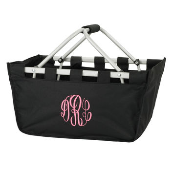 Black Market Tote with embroidered monogram or name