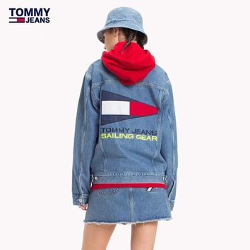 Tommy Hilfiger Women Denim Cardigan Jacket