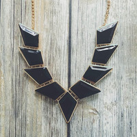Black Pyramid Necklace