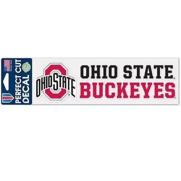 "Licensed Ohio State Buckeyes Official NCAA 3"" x 10"" Die Cut Car Decal OSU Wincraft 360052 KO_19_1"