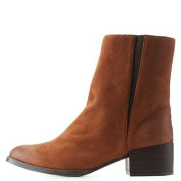 Chunky Heel Chelsea Booties by Qupid at Charlotte Russe