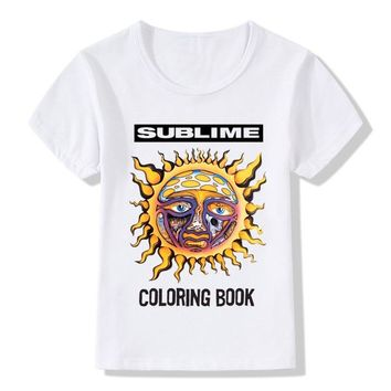 Sublime Band Print Children T Shirt Summer Top Boys/Girls Short Sleeve Clothes Casual Hipster Cool Baby Kids T-shirt,HKP928