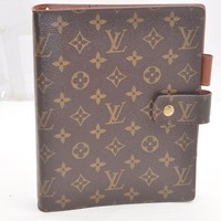 Authentic Louis Vuitton Monogram Agenda GM Day Planner Cover R20106 LV 42202