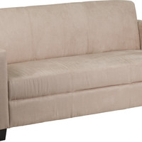 Grand Series Light Brown Microfiber Sofa