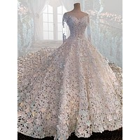 Venetian Serenade Wedding Dress Bridal Beaded Lace Gown