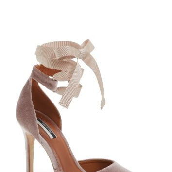 Topshop Graceful Ankle Tie d'Orsay Pump (Women) | Nordstrom