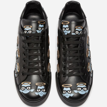Printed Leather Sneakers - Women | Dolce&Gabbana