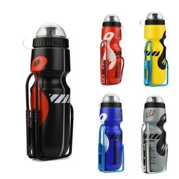 bicycle accessories bottle of bicycle my bottle 650ML Outdoor Water Bottle  Holder Cage Rack Mountain Cycling Bike Bicycle Kit