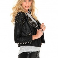 Missguided - Betsy Spiked Biker Jacket